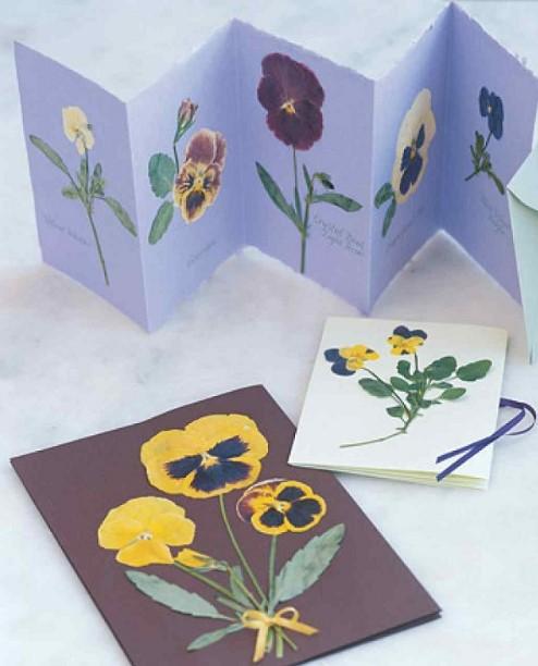 κάρτες με διακόσμηση από λουλούδια