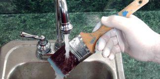 καθαρισμός πινέλων