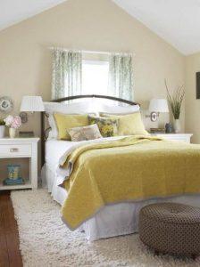 κίτρινο χρώμα τοίχων κρεβατοκάμαρας
