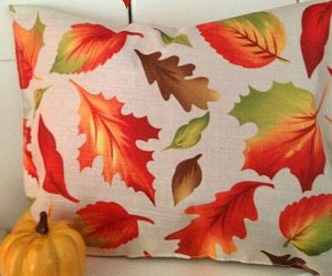 μαξιλαρι με φυλλα φθινοπωρο