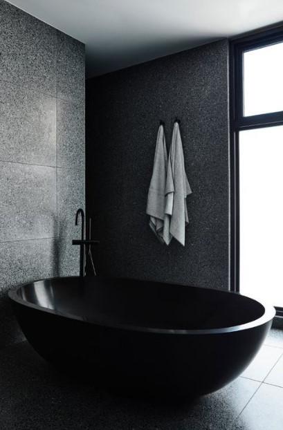 μαύρο μπάνιο
