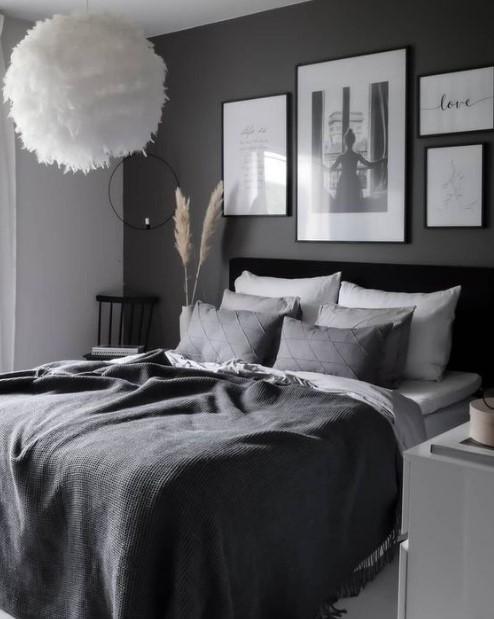 μαύρο υπνοδωμάτιο