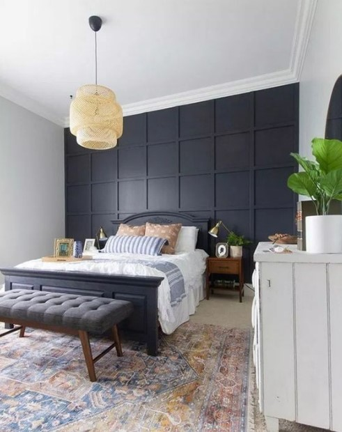 μαύρος τοίχος στο υπνοδωμάτιο