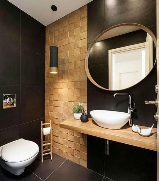 μαύρο μπάνιο χρώμα