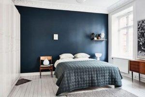 μπλε χρώμα τοίχου υπνοδωμάτιο ιδέες διακόσμησης