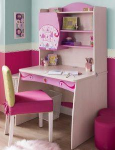 γραφειο παιδικο ροζ και ασπρο