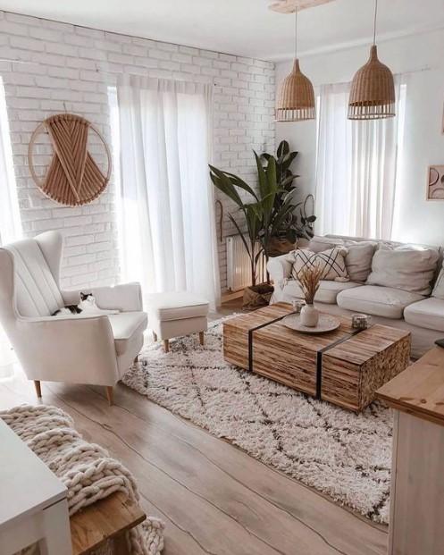 λευκό μοντέρνο σαλόνι