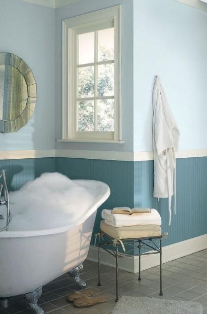 μπλε γαλάζιο μπάνιο