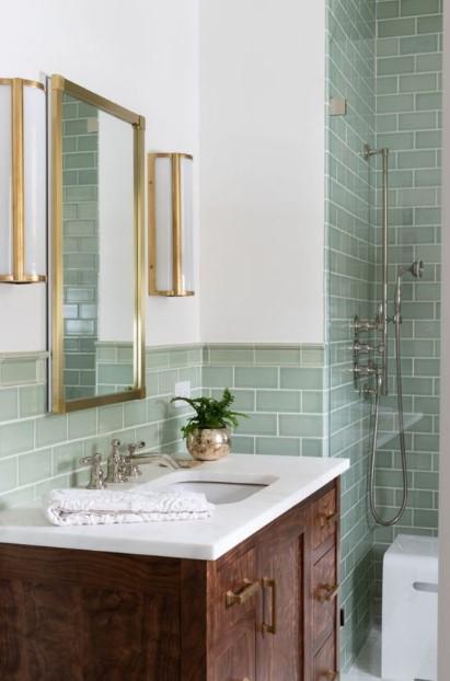πράσινο καφέ μπάνιο