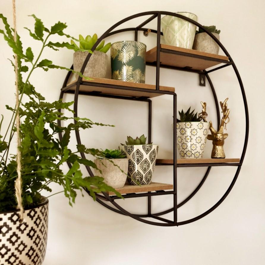 στρογγυλό ράφι τοίχου φυτά διακοσμητικά κάτω από 100