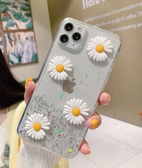 θήκη κινητού με λουλούδια