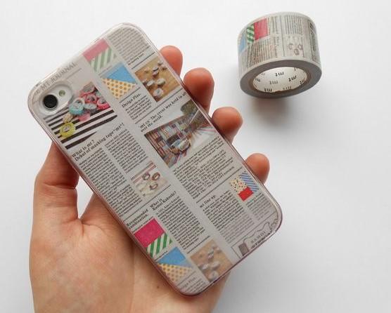 θήκη κινητού με σχέδιο εφημερίδας