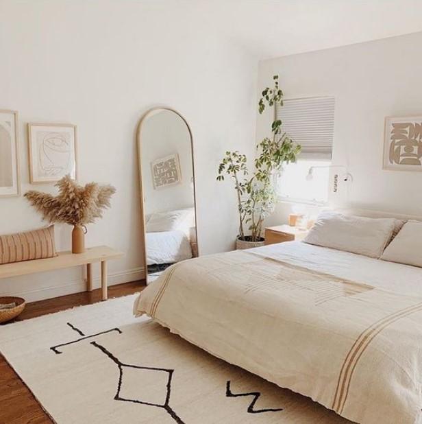 άσπρο υπνοδωμάτιο