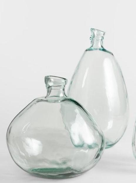 γυάλινα διακοσμητικά βάζα