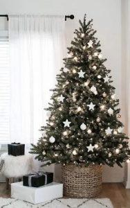 χριστουγεννιάτικο δέντρο με καλάθι από κάτω