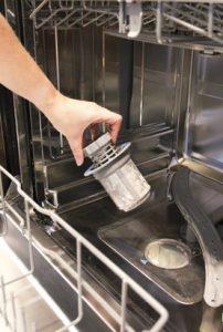 καθαρό φίλτρο πλυντηρίου πιάτων