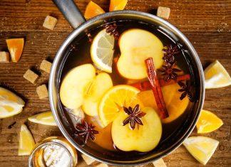 κατσαρόλα κανέλα μήλο λεμόνι πορτοκάλι