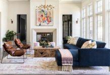 μεγάλο σαλόνι με ωραία διακόσμηση