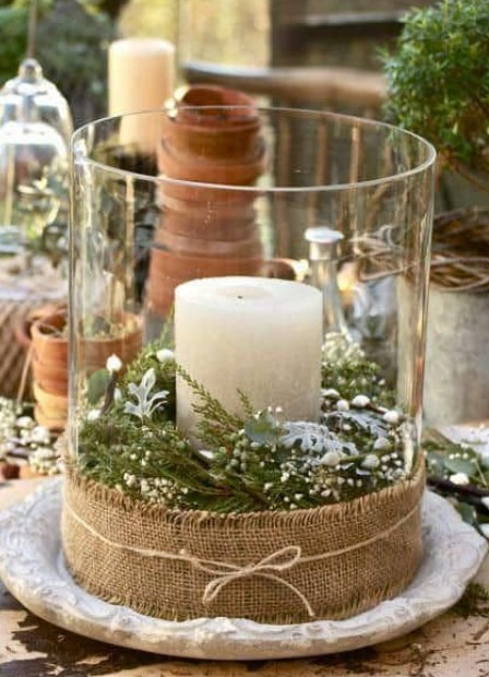 βάζο με κερί