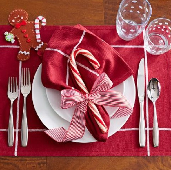 χριστουγεννιάτικα στολισμένο πιάτο