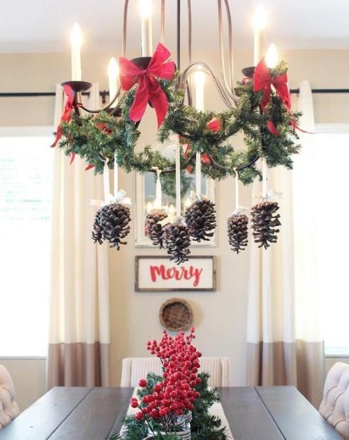 χριστουγεννιάτικη διακόσμηση φωτιστικού