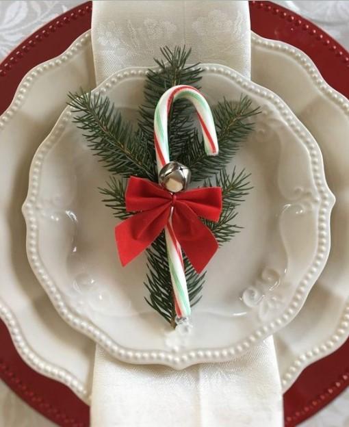 χριστουγεννιάτικη διακόσμηση πιάτου