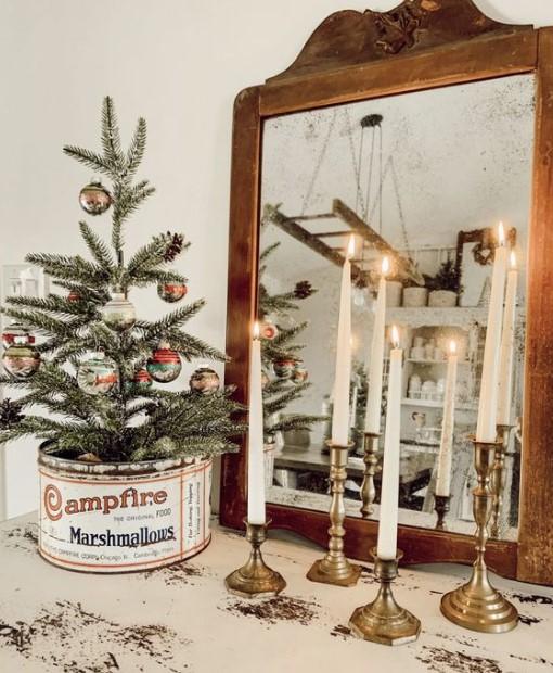 χριστουγεννιάτικο decor με κεριά