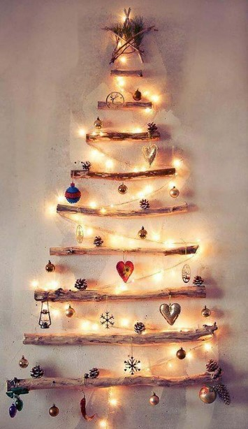 χριστουγεννιάτικο δέντρο από ξύλα