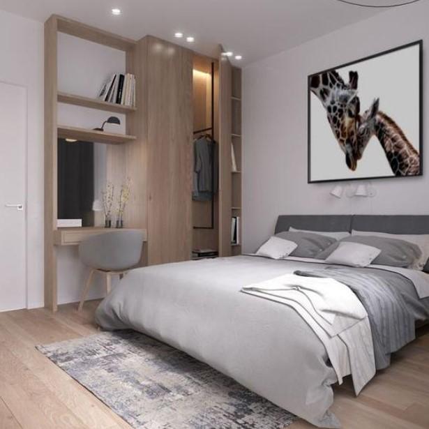 υπνοδωμάτιο με γήινα χρώματα