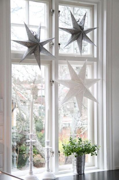 αστέρια κρεμασμένα παράθυρο