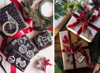 ιδέες για όμορφο τύλιγμα χριστουγεννιάτικων δώρων