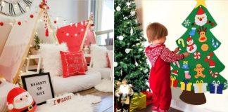 ιδέες για χριστουγεννιάτικηδιακόσμηση του παιδικού δωματίου
