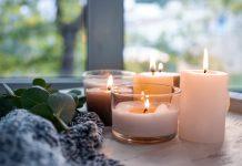 κεριά στο σπίτι