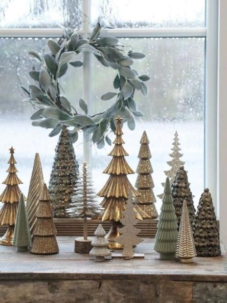 πολλά δεντράκια παράθυρο παράθυρα Χριστούγεννα