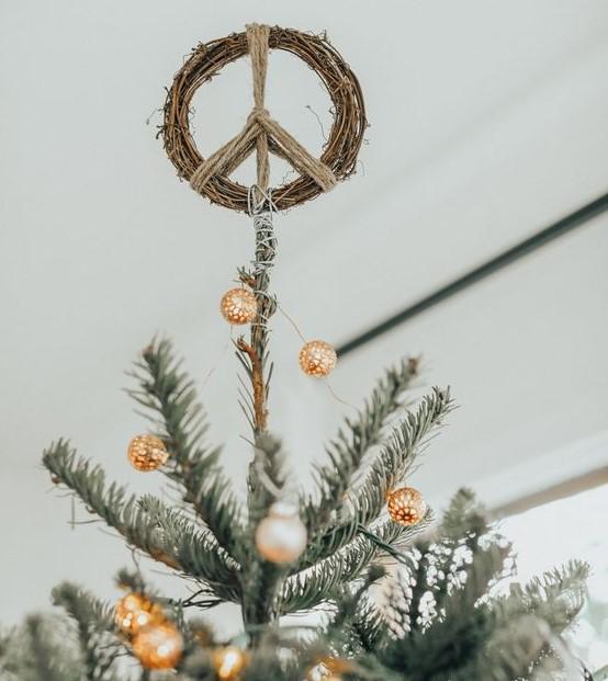 σύμβολο ειρήνης κορυφή δέντρου