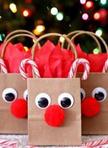 χριστουγεννιάτικες σακούλες τάρανδοι