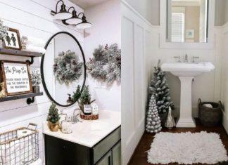 χριστουγεννιάτικη διακόσμηση μπάνιου