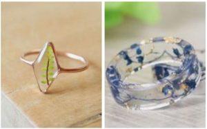 δαχτυλίδια φτιαγμένα από υγρό γυαλί
