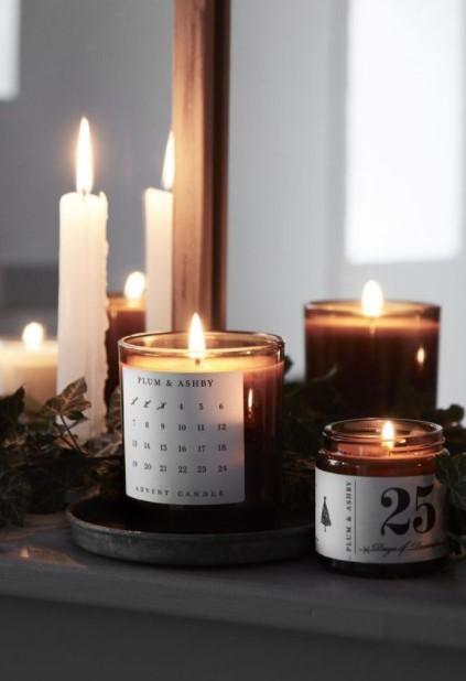 διάφορα κεριά ρομαντικό υπνοδωμάτιο