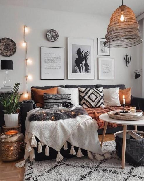καναπές ριχτάρι μαξιλάρια ανανεώσεις σαλόνι λίγα χρήματα