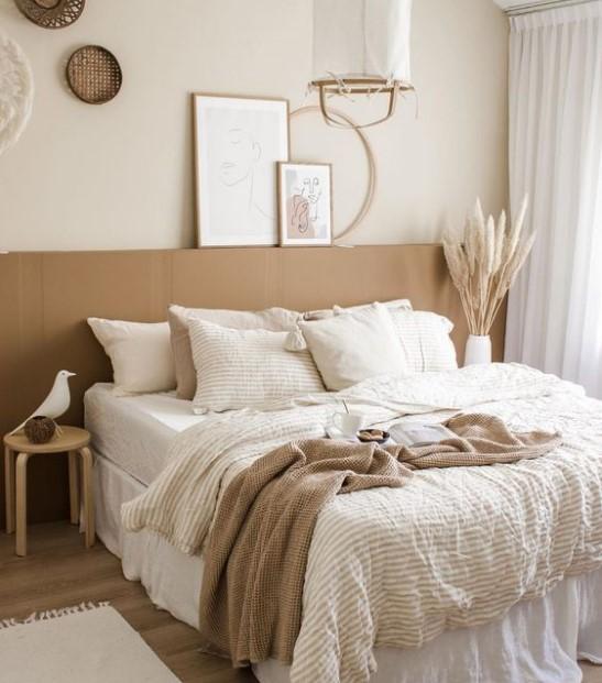 μπεζ λευκό υπνοδωμάτιο