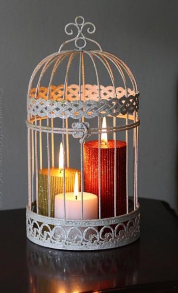 πολύχρωμα κεριά κλουβί