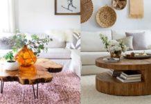 ξύλινα τραπεζάκια σαλονιού