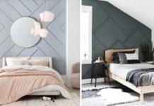 υπνοδωμάτια με τρισδιάστατο εφέ στο τοίχο