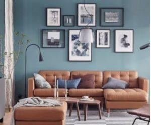 διακόσμηση για γωνιακό καναπέ δερμάτινο ταμπά