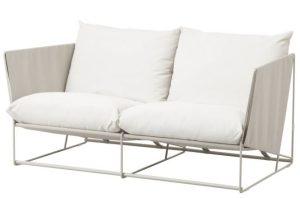 καναπές εξωτερικού χώρου απλός λευκός