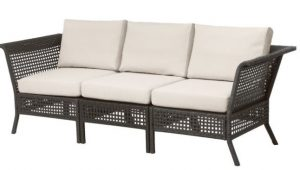 καναπές εξωτερικού χώρου γκρι με μπεζ
