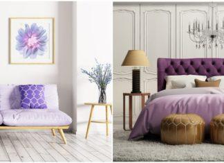 μοβ χρώμα στο σπίτι