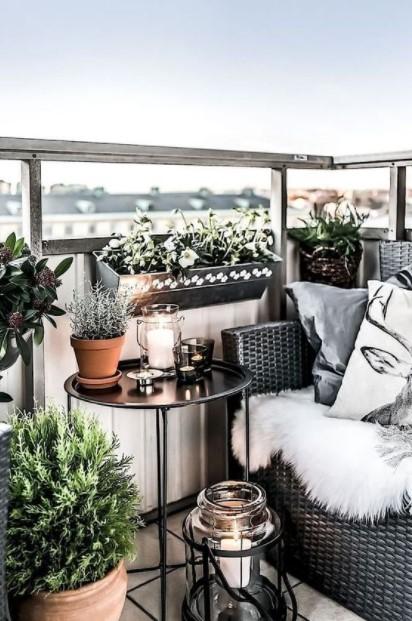 μπαλκόνι καναπές φυτά μπαλκόνι χειμώνα