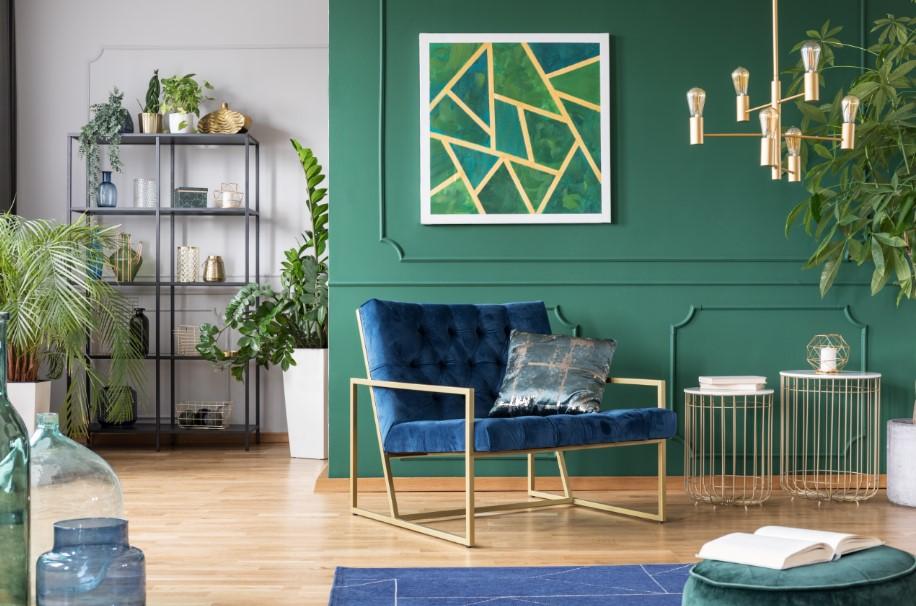 πρασινο μπλε σαλονι